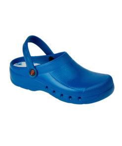 uniformes sanitarios en malaga zueco eva azul