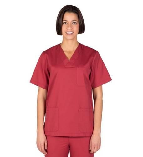 Blusa Sanitaria Unisex Pico color Burdeo Garys