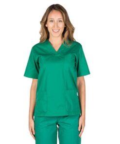 Blusa Sanitaria Unisex Pico color Verde Garys
