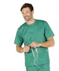 Casaca sanitaria con cuello redondo GARYS Verde 604