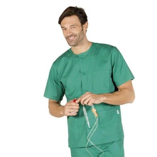 Casaca sanitaria con cuello redondo GARYS Verde