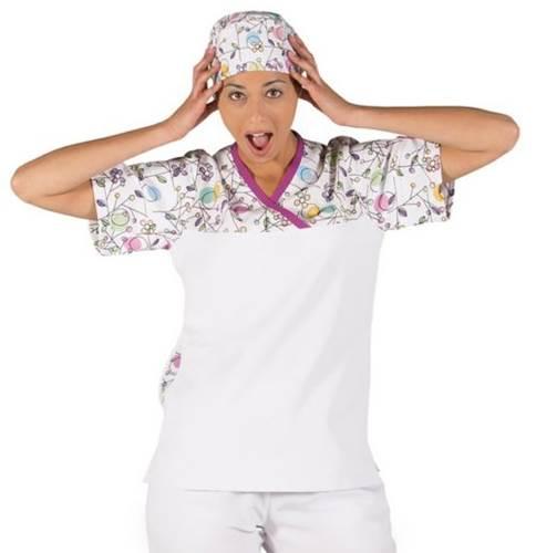 Casaca sanitaria cuello pico GARYS 6095 Circulos