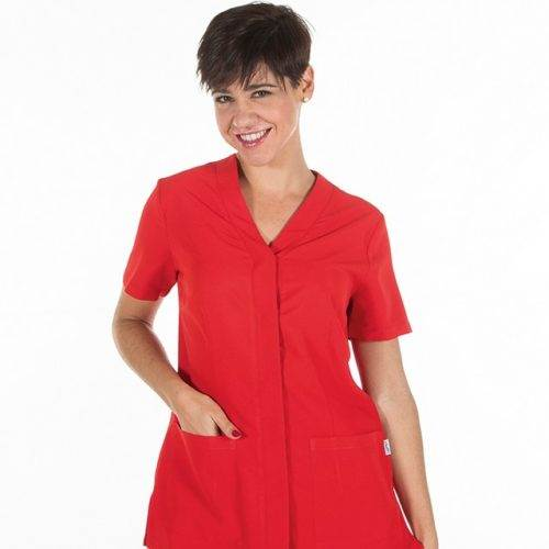 Casaca sanitaria mujer GARYS 6551 Sonia Rojo
