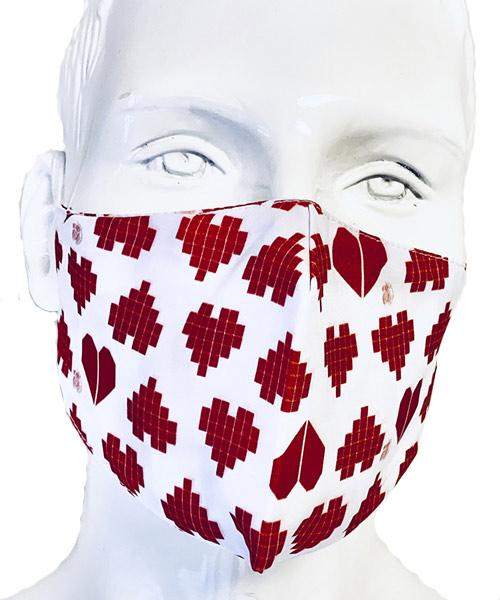 Mascarillas Sanidad Corazon Rojo